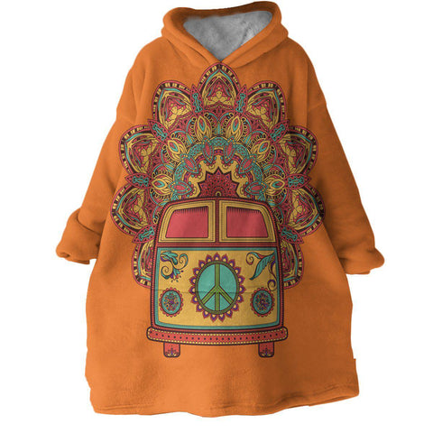 The Happy Bus Wearable Blanket Hoodie-Coastal Passion