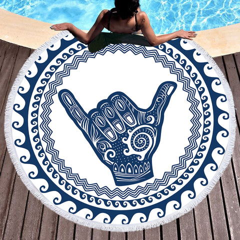 Sweet Shaka Vibes Fun Beach Towel-Round Beach Towel-Adult: 150 cm diameter-Australian Coastal Passion