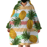 Pineapple Party Wearable Blanket Hoodie-Coastal Passion