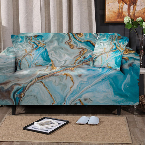 Coastal Sofa Slipcover-The Baths Couch Cover-Coastal Passion