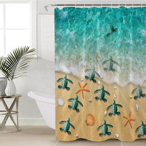 Happy Hatchlings Shower Curtain-🇦🇺 Australian Coastal Passion