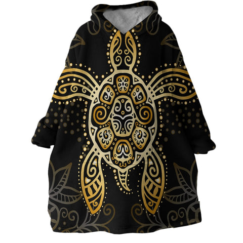 The Golden Sea Turtle Wearable Blanket Hoodie-Coastal Passion
