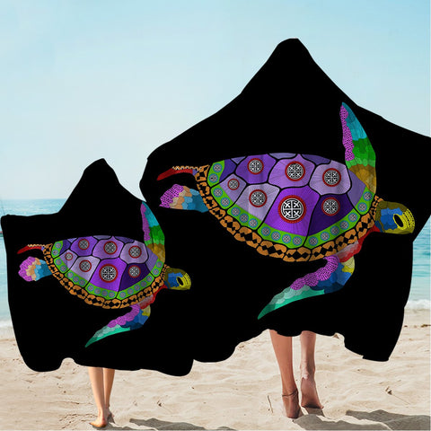 Free Spirit Turtle Hooded Towel