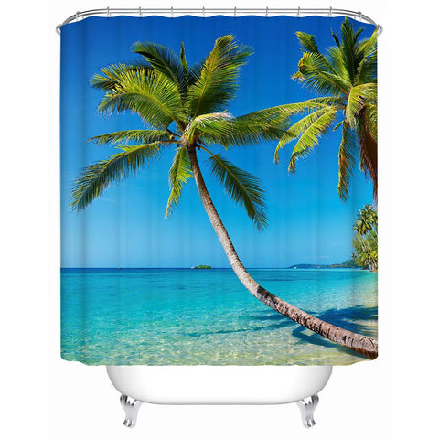 Tropical Escape Shower Curtain-Shower Curtain-Australian Coastal Passion