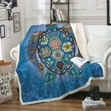 The Turtle Totem Soft Sherpa Blanket-Fleece Sherpa Blanket-Australian Coastal Passion