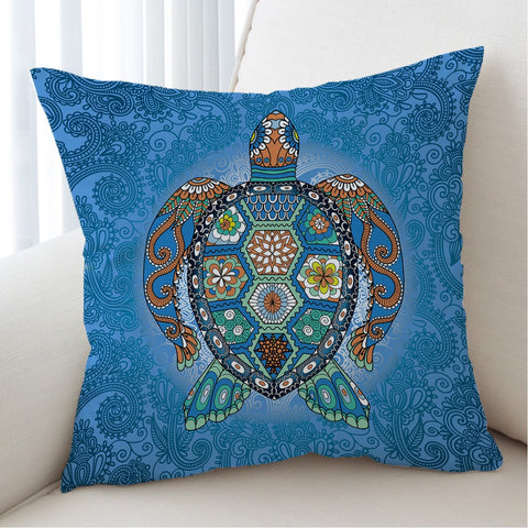 The Turtle Totem Cushion Cover-Australian Coastal Passion