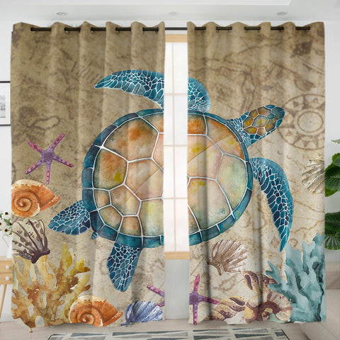 Coastal Curtain-The Original Turtle Island Curtains-Coastal Passion
