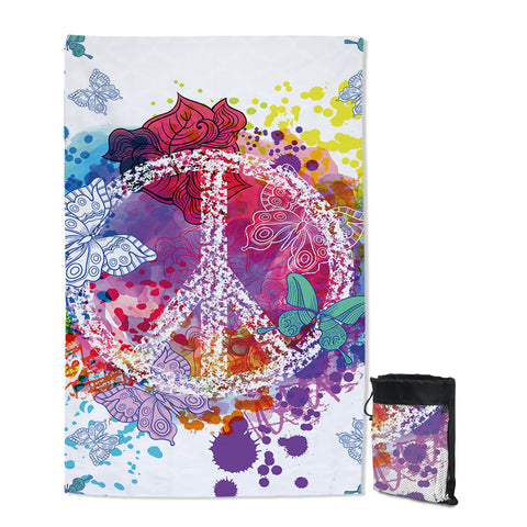 Peace on the Beach Sand Free Towel