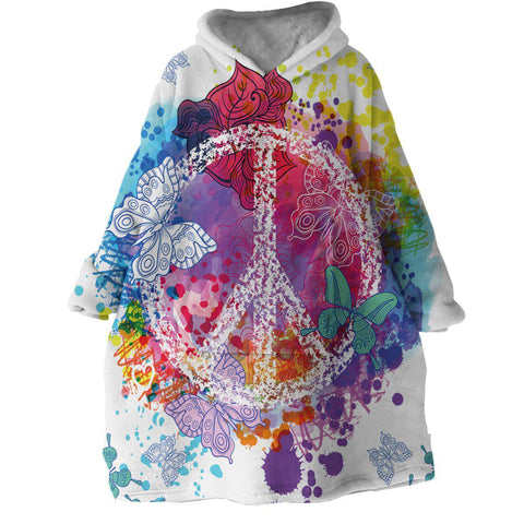 Peace on the Beach Wearable Blanket Hoodie-Coastal Passion