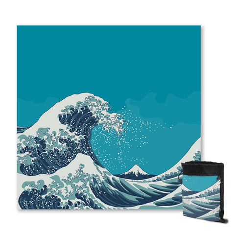 The Great Wave Sand Free Towel-Australian Coastal Passion