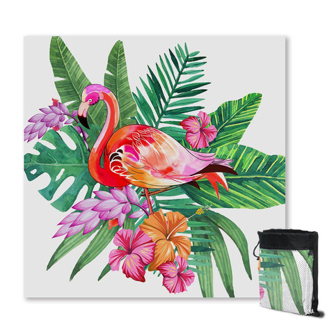 Tropical Flamingo Sand Free Towel