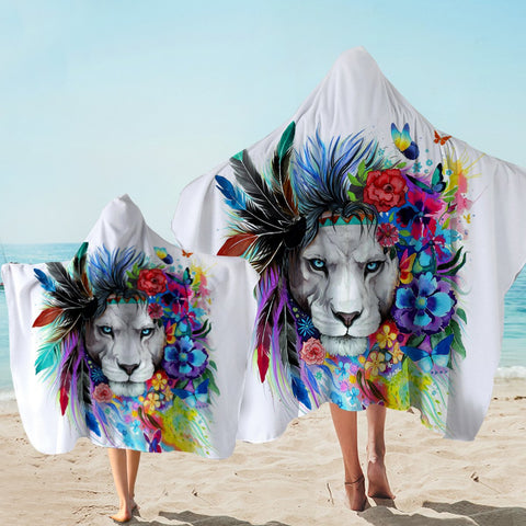 Coastal Hooded Towel-The Original Lion Vibes Hooded Towel-Coastal Passion