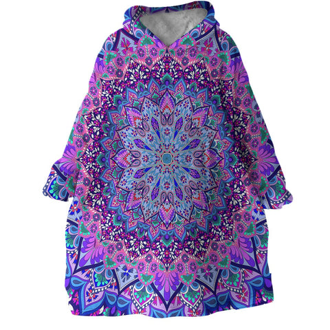 Cosmic Bohemian Wearable Blanket Hoodie-Coastal Passion