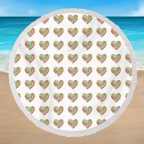 Flip Flop Frenzy Round Beach Towel-Round Beach Towel-Australian Coastal Passion