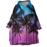 Tropical Skies Wearable Blanket Hoodie-🇦🇺 Australian Coastal Passion