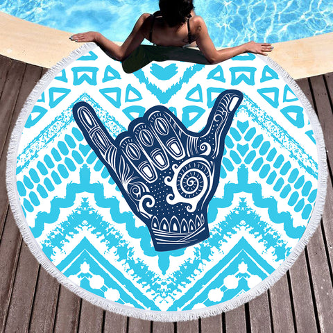 The Original Aloha Spirit Fun Beach Towel-Round Beach Towel-Adult: 150 cm diameter-Australian Coastal Passion