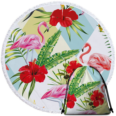 Coastal Round Beach Towel-Island in the Sun Towel + Backpack-Coastal Passion