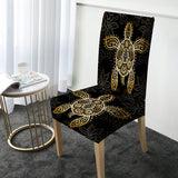 The Golden Turtle Chair Cover-Australian Coastal Passion