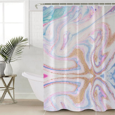 Coastal Shower Curtain-Renaissance Island Shower Curtain-Coastal Passion