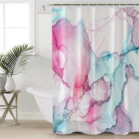 Coastal Shower Curtain-Waikiki Shower Curtain-Coastal Passion