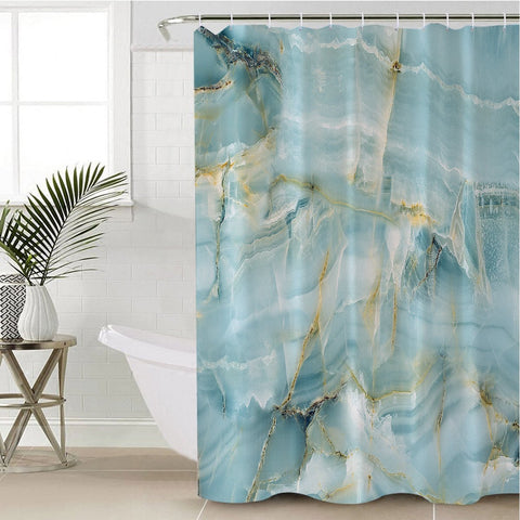 Coastal Shower Curtain-Navagio Beach Shower Curtain-Coastal Passion