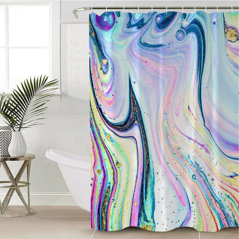 Coastal Shower Curtain-Maya Bay Shower Curtain-Coastal Passion