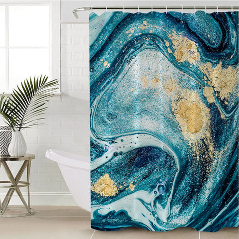 Coastal Shower Curtain-Bondi Beach Shower Curtain-Coastal Passion