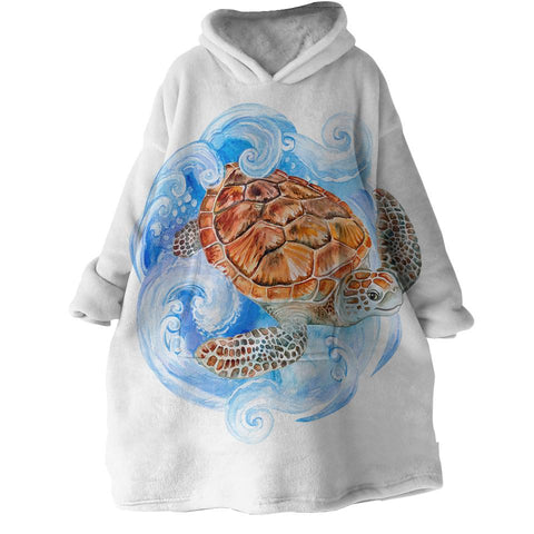Sea Turtle Waves Wearable Blanket Hoodie-🇦🇺 Australian Coastal Passion