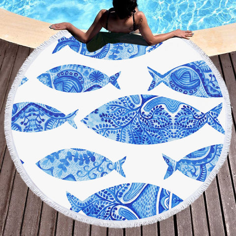 Hamoa Round Beach Towel-Round Beach Towel-Australian Coastal Passion