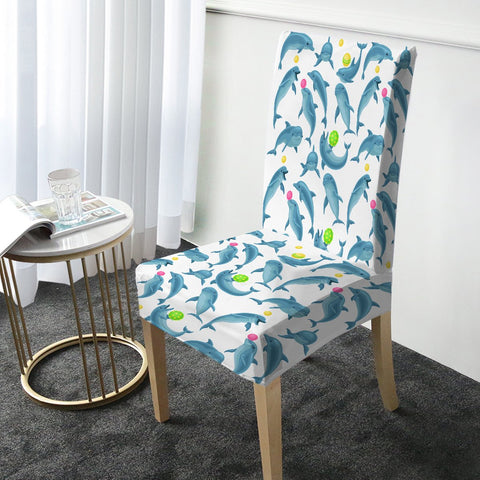 Dolphins Soul Fins Chair Cover-Australian Coastal Passion
