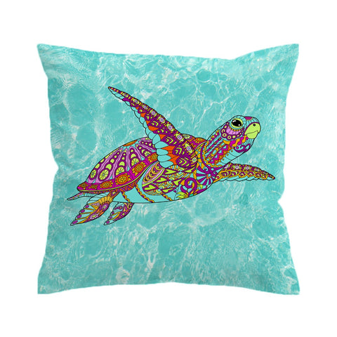 The Original Sea Turtle Spirit Cushion Cover-🇦🇺 Australian Coastal Passion