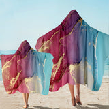 Coastal Hooded Beach Towel-Budelli Beach Hooded Towel-Coastal Passion