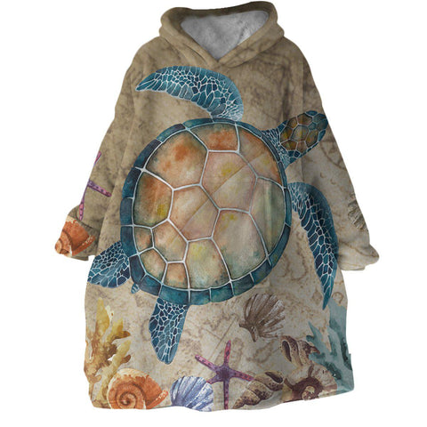 The Turtle Island Wearable Blanket Hoodie-Coastal Passion