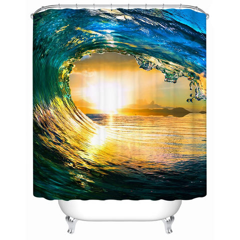 The Eye Of The Ocean Shower Curtain-Shower Curtain-Australian Coastal Passion