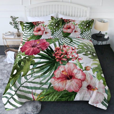 Tropical Hibiscus New Quilt Set-🇦🇺 Australian Coastal Passion