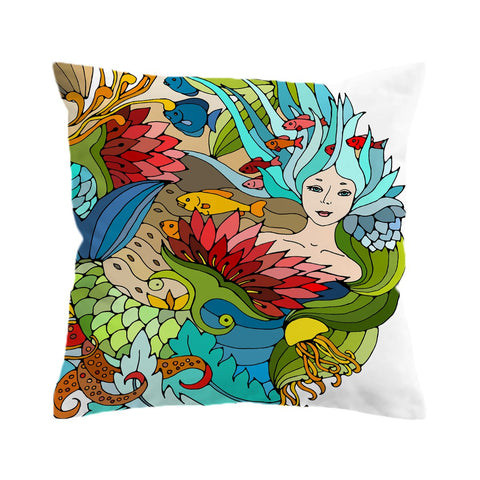 The Happy Mermaid Cushion Cover-🇦🇺 Australian Coastal Passion