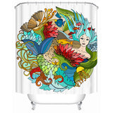 The Happy Mermaid Shower Curtain-Shower Curtain-Australian Coastal Passion