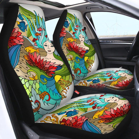 The Happy Mermaid Car Seat Cover-🇦🇺 Australian Coastal Passion