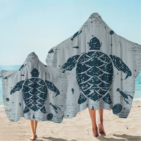 Sea Turtle Treasure Hooded Towel