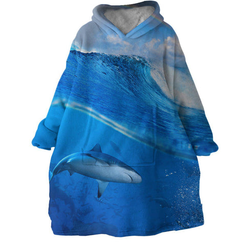 The Shark Wearable Blanket Hoodie-Coastal Passion
