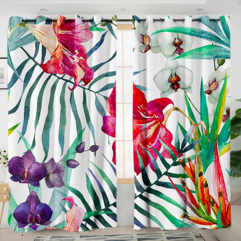 Coastal Curtain-Tropical Floral Curtains-Coastal Passion