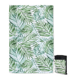 Coastal Sand Free Beach Towel-Tropical Palm Leaves Sand Free Towel-Coastal Passion