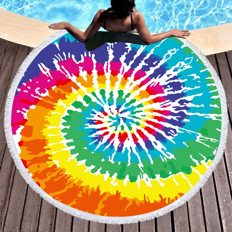 The Colour Creation Beach Roundie-Round Beach Towel-Australian Coastal Passion