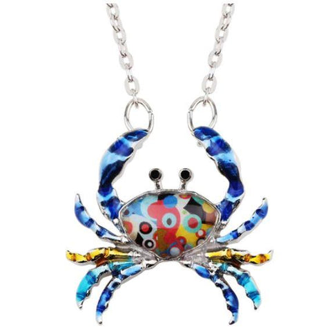Cutie Crab - Enamel Pendant Necklace-🇦🇺 Australian Coastal Passion