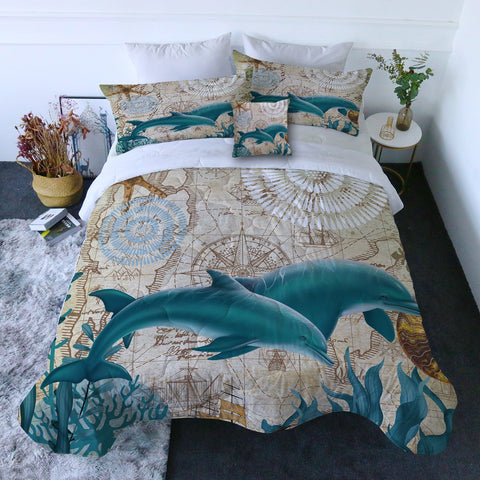 Dolphin Love Quilt Set