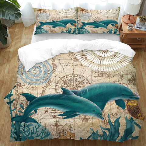 Dolphins Love Doona Cover Set