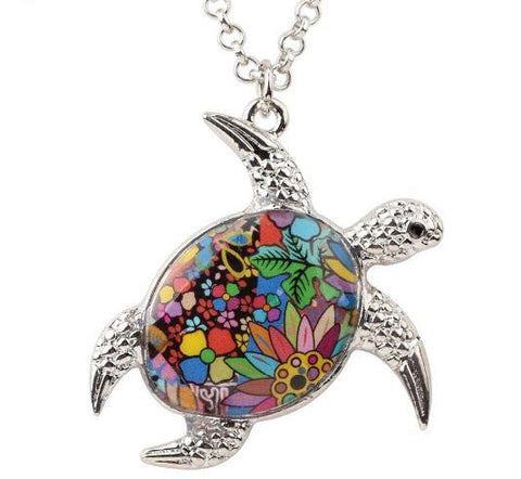 Sea Turtle Delight - Enamel Pendant Necklace-🇦🇺 Australian Coastal Passion