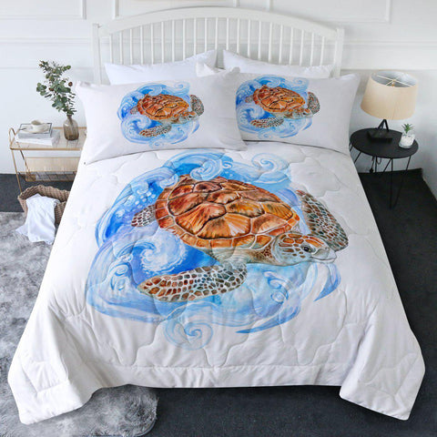 Sea Turtle Waves New Quilt Set-🇦🇺 Australian Coastal Passion