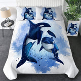 Coastal Doona Quilt Cover Set-Orca Whales Doona Cover Set-Coastal Passion