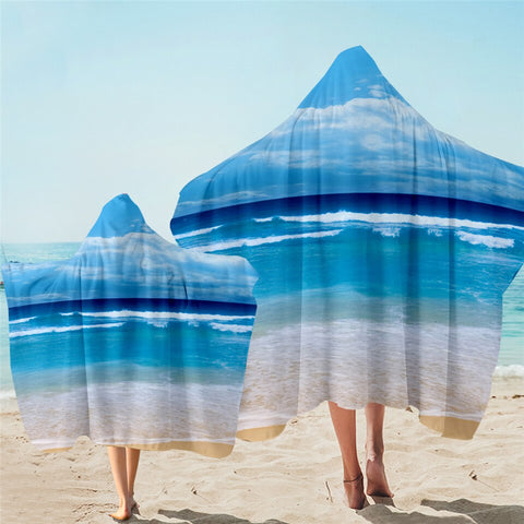 Peace of the Beach Hooded Towel
